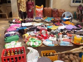 Photos: See the large number of items a Nigerian man was made to bring as bride price