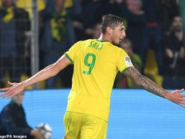 Nantes retire No 9 shirt in honour of Emiliano Sala after he
