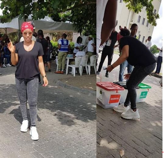 #NigeriaDecides - Tinubu, Falz, Toke Makinwa, Others; Photos of Your Favorite Politicians And Celebrities At Their Polling Units