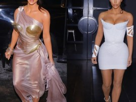 Kim Kardashian rocks stunning Thierry Mugler dresses to his Exhibit Opening Party in Montreal (Photos)
