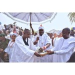 Photos: Ooni of Ife And His Wife, Olori Prophetess Naomi Host Aje Festival