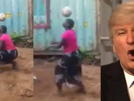 Image result for Donald Trump Commends The Talent of An African Woman Who Juggles Balls Like A Professional Footballer [Video]