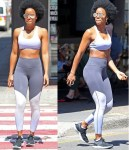 Kelly Rowland Flaunts Her Abs in A Tiny Crop Top And Gym Gear in Sydney [Photos]