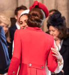 Kate Middleton And Meghan Markle Hug And Laugh As They Arrive For Commonwealth Day Service [Photos]