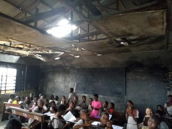 Photos: See the deplorable state of the school attended by the girl chased home for not paying school fees
