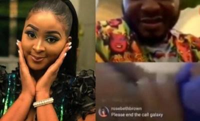 Shocking: Actress, Etinosa goes completely naked on MC Galaxy