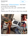 #lagostoibadan: The CU Student Declared Missing Was Actually Meeting Her Boyfriend in Another State