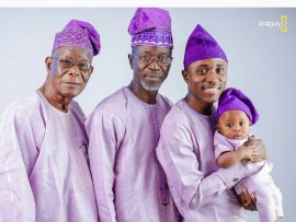 Move over ladies! Check out a four generation photo of a Nigerian man with his grandfather, father and son