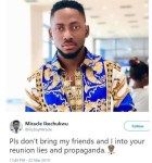 #BBNaija: Please Don't Bring My Friends Into Your Reunion Lies - Miracle Tweets