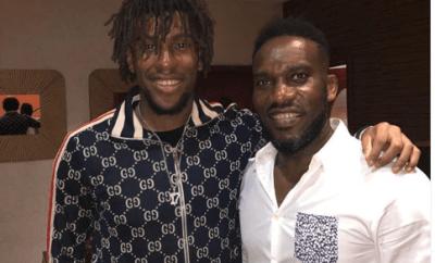 Cool new photo of football legend, JayJay Okocha and his nephew Alex Iwobi