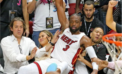 Caption this photo of Dwyane Wade, John Legend and his wife Chrissy Teigen