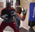 Trending Video of Kogi State Governor, Yahaya Bello, Practicing Boxing