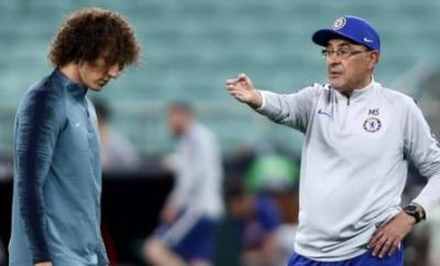 Maurizio Sarri and David Luiz
