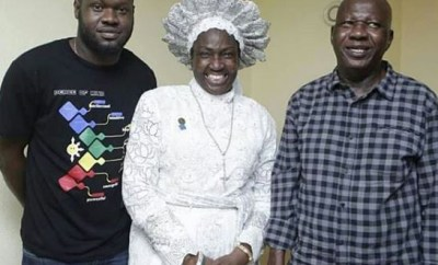 Veteran Nollywood actor, Baba Suwe?returns to Nigeria after spending weeks in a US hospital