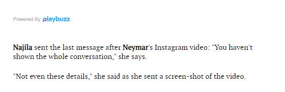 WhatsApp conversations between Neymar and rape accuser Najila Trindade released (Screenshots)
