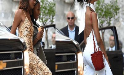 Malia and Sasha Obama join dad Barack for a Father