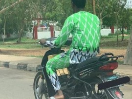 Lol! Okada rider spotted rocking the