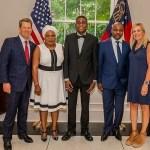 Photos: Lagos NURTW Boss, MC Oluomo And Family Meet Governor of Atlanta Georgia, Brian Kemp
