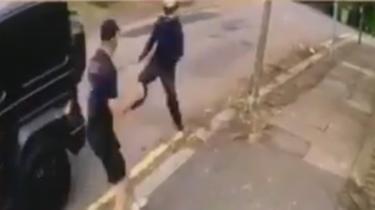 Kolasinac fighting off attacker