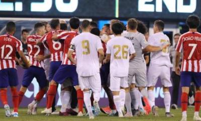 Real Madrid and Atletico Madrid