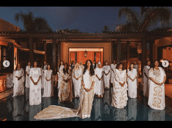 """Sabrina Dhowre Elba shares magnificient photos from her """"all white Buraanbur"""" in Somali"""