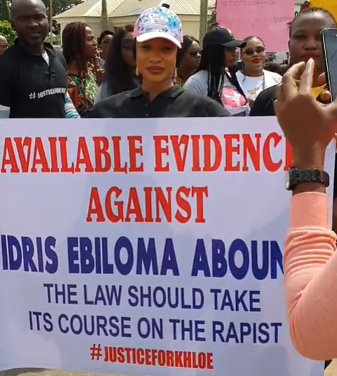 Image result for tonto dikeh protesting in abuja