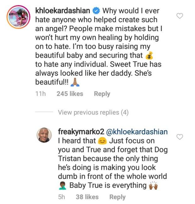 Khloe Kardashian responds to claims she hates Tristan Thompson