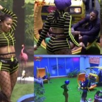 #BBNaija: Frodd Leads Male Housemates in Prayers As Mercy Channels Her Sexiness [Video]
