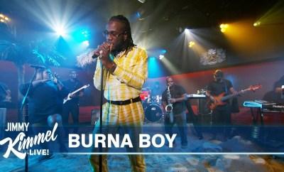 Watch Burna Boy perform