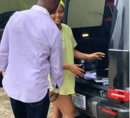 Video: Regina Daniels sings love song to her hubby, Ned Nwoko as they enjoy a ride together