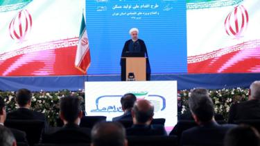 Iranian President Hassan Rouhani speaks in Tehran on 27 August 2019