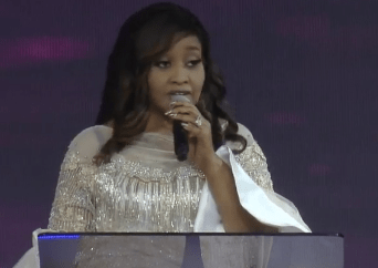 """COZA will pay them back by making slaves of them"" - Modele Fatoyinbo throws shades as she prays (video)"