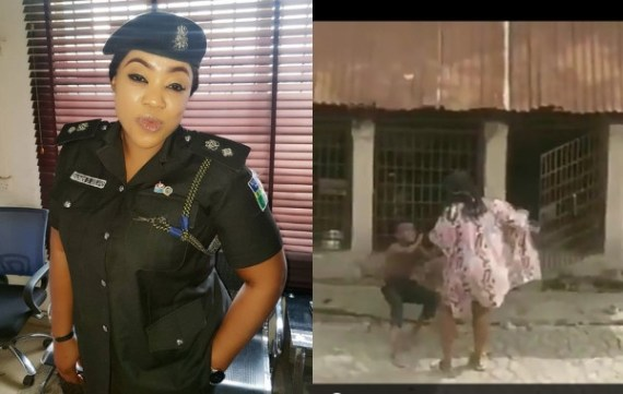 Police gives update on search for woman filmed flogging a boy and putting him in a cage with dogs