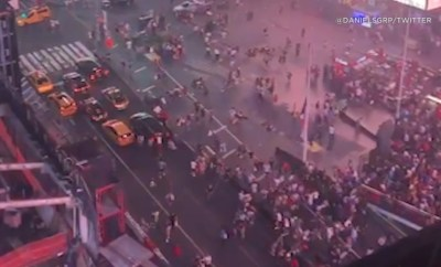 Many injured after engines of motorcycles are mistaken for gunshots at Times Square