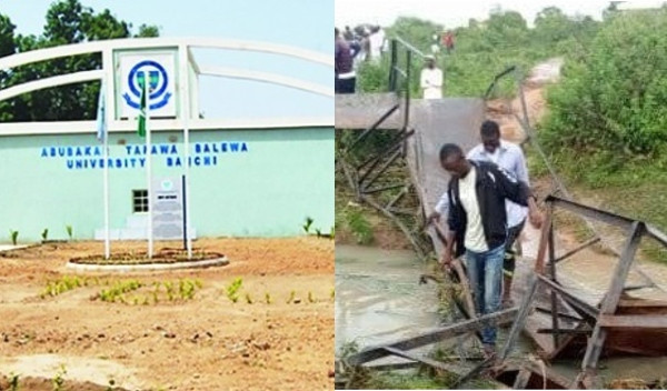 30 students were on the collapsed bridge taking selfies ? ATBU VC