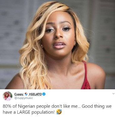80% of Nigerian people don?t like me- Cuppy