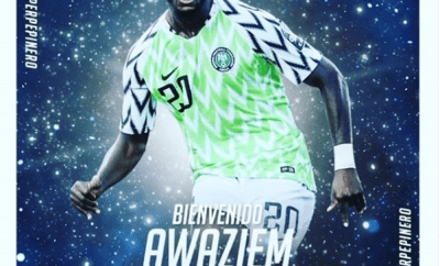 Super Eagles defender, Chidozie Awaziem completes loan switch to Leganes from Porto