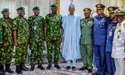 Photos: Service Chiefs, Senators, storm Katsina to pay Sallah homage to President Buhari