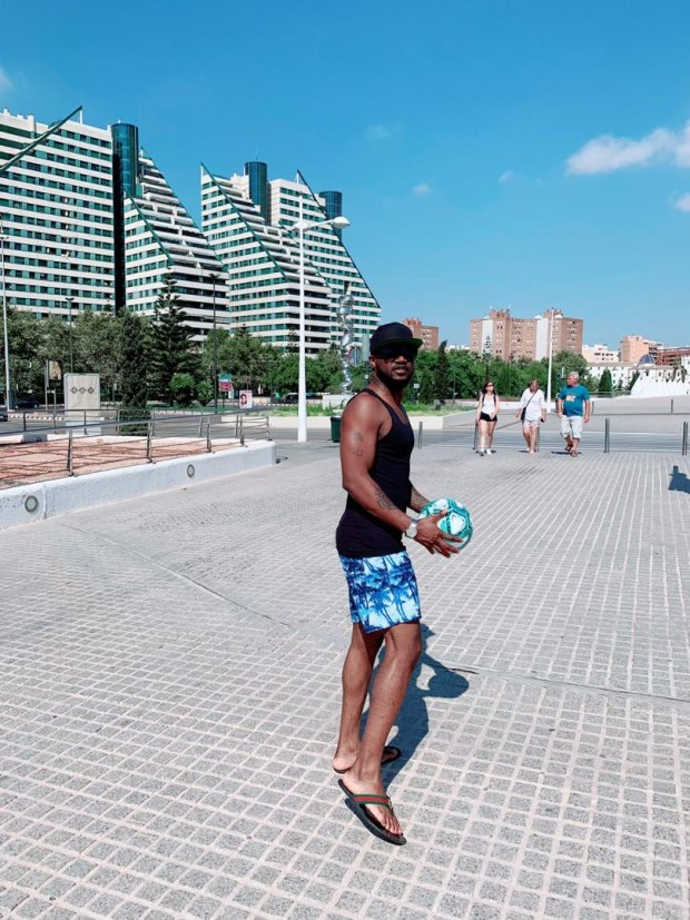 Peter Okoye?unveils the ball for new LaLiga Season (Photos)
