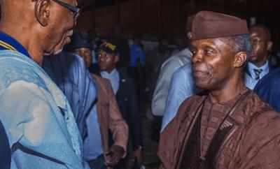 Crossover to APC before you die- Osinbajo advises PDP members