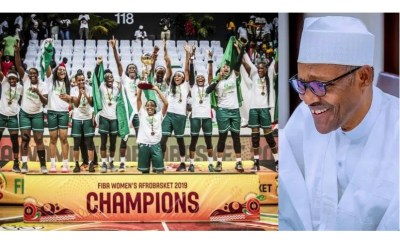 President Buhari?congratulates D?Tigress for defeating Senegal to win 2019 FIBA Afrobasket Championship