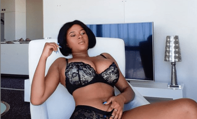 The Boob Movement founder Abby Chioma pats her vagina as she twerks up a storm in only her bra and panties (Watch video)