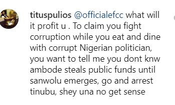 Nigerians drag the heck out of EFCC after the agency dropped a