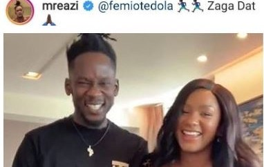 Please take it Eazi with my angel - Femi Otedola begs Mr Eazi