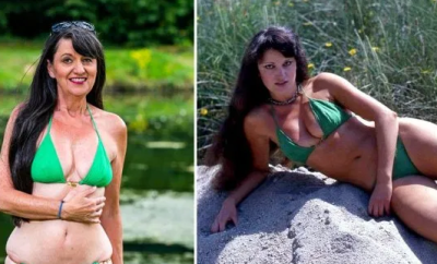 68-year-old glamour model poses in the same bikini she wore when she was in her 20s  (photos)