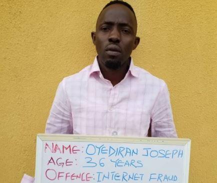 EFCC arrests Nigerian internet fraudster wanted by FBI