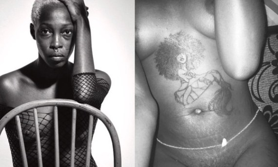Nigerian model with tribal marks, Adetutu shows off her pubic hair