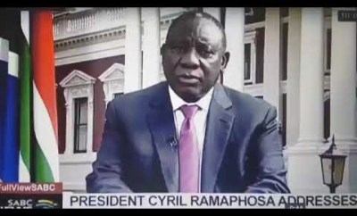 President Cyril Ramaphosa makes mistake on live TV while addressing xenophobic attacks (video)