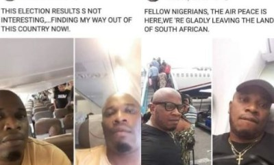Xenophobia forces Nigerian man who fled the country after the February presidential elections to return home