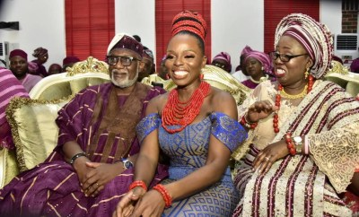 Photos:  Bola Tinubu, Bisi Akande, others at Governor Akeredolu daughter?s wedding